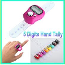 1 piece Digital 5 Digit LCD Finger Ring Tally Counter for Golf/Tabik/C