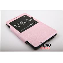 Samsung Note 3 Caller ID Display Flip Magnetic Stand Cases Pink