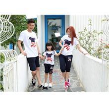 MOMO Bear Family/Couple Short Sleeves T-shirt + Pants