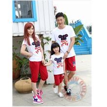 Happy Bear Family/Couples Short T-shirt & Pants
