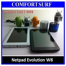 Netpad Evolution W8 Build In Sim Call/SMS, Android 4.0.4 Tablet PC