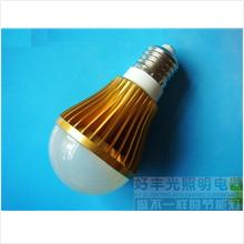 1 piece 5W Led E27 Bulb-Gold-100000 hours of life-White Light