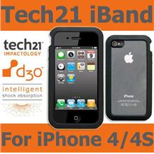 TECH21 BLACK D30 IMPACT iBAND CASE COVER FOR APPLE iPHONE 4 4S - Ori