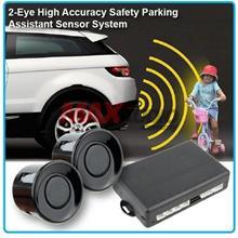 ZIIIRO 2-Eye Safety Reverse Parking Sensor System w/ Buzzer (Black)