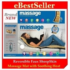 Reversible Faux Sheepskin 9 Motor Full Body Massage Mat-Soothing Chair
