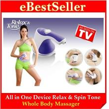 Relax & Spin Tone Whole Body Massager-Slimming, Toning, Exercise