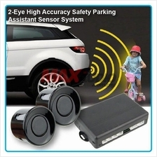 ZIIIRO 2-Eye Safety Reverse Parking Sensor System w/ Buzzer (Black)