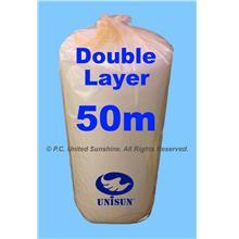 DOUBLE Layer BUBBLE WRAP 1m x 50m SUPER PROMO Plastic Packaging