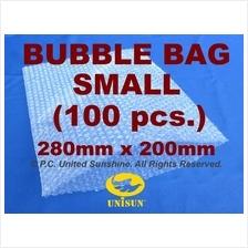 x 100 pcs. SMALL BUBBLE WRAP BAG 280mm x 200mm A4 Size PROMO