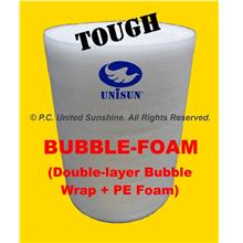 BUBBLE-FOAM HYBRID (Double-Bubble Wrap+PE Foam) 1m x 100m ONLINE PROMO
