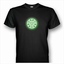 Iron Man Arc Reactor Mark 6 Glows In The Dark V2 T-shirt