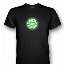 Iron Man Arc Reactor Mark VI Glows In The Dark T-shirt