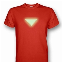 Iron Man Chest Plate Mark VI Glows In The Dark T-shirt Red