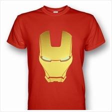 Iron Man Helmet Mark III T-shirt Red