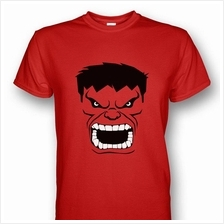 Red Hulk Face Red T-shirt