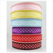 25mm Organza Ribbon Polkadot 3 yards - Pick your colour