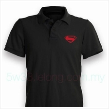 Man of Steel Red Logo Polo Shirt
