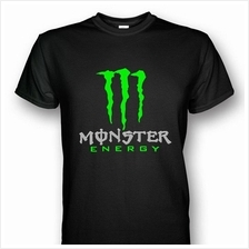 Monster Energy T-shirt Silver/Neon Green