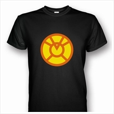 Orange Lantern Black T-shirt