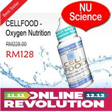 CELLFOOD 4 Bottles - Oxygen Nutrition From NU Science