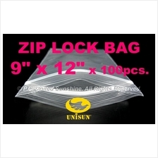 "JUNE PROMO ZIP LOCK BAG 9"" x 12"" x 100 pcs. Resealable Plastic Bags"