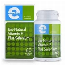 Euro Bio bio-natural vitamin E plus selenium (120 caps) (Health+Energy