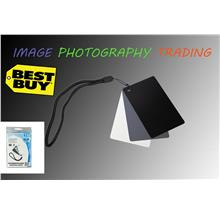 JJC GC-2 3in1 3 Color Digital Card Set for White Balance Adjustment