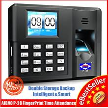 AIBAO P28 Double Backup Biometric Office Fingerprint Time Attendance