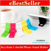 BUY 1 FREE 1 Colorful Mobile Phone Holder Stand Support Keychain