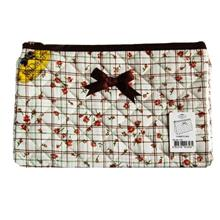 NaRaYa Cosmetic Bag ―Padded Cotton.Countryside Quilted Pattern&#..