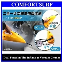 Powerful 90W Car Dual Function Tire Inflator & Vacuum Cleaner