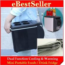 2-in-1 Cooling & Warm Mini Portable 6L / 7.5L Car Fridge Refrigerator