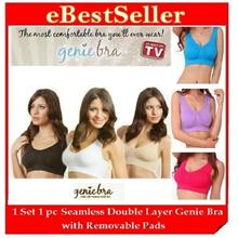 FREE GIFT + 1pc Genie Bra wf Removable Pads 6 Color 5 Sizes