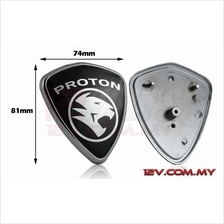 Proton Replacement Emblem Silver-on-Black (Medium)