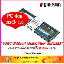 KINGSTON 4GB DDR3-1333 DESKTOP PC RAM Memory (KVR13N9S8/4)