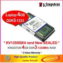 KINGSTON 4GB DDR3-1333 LAPTOP / NOTEBOOK RAM Memory