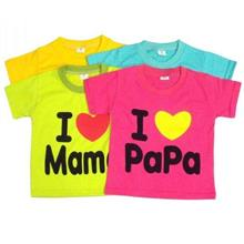 I ♥ Papa Mama Kids Shirt (Love.100% Cotton.Short-Sleeve.Color)