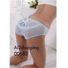 00683New fine Ice Cotton Lace Bow Sexy ladies underwear Pant