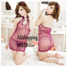 00335Sex Role Playing Sexy qipao Lingerie+G-string