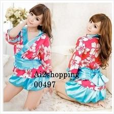 00497New Japan kimono pajamas uniform role-playing fun four pieces