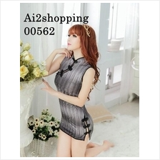 00562Cotton qipao sexy nightgown spell beautiful figure highlights