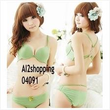 04091Korean behind cross buckle sexy underwear Bra sets
