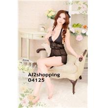04125Lace halter backless irregular skirts Sexy Lingerie + G-string
