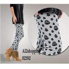 Cashmere skull Panties Trouser Pants & Shorts02392-Gray