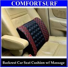 Magnetize Backrest Cushion Car Seat Back Support Massage for Travel