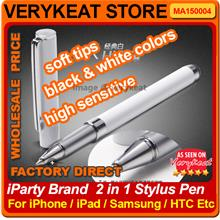 Promo! Super Soft High Sensitive iParty 2in1 Stylus Pen for Smartphone