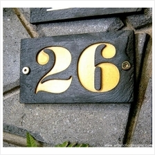 Distinctive Rectangle Stone Address Plaque House Number Sign