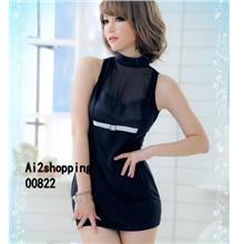 00822New figure highlights the fun nightclub dress+TPant