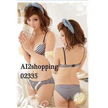 Underclothes Undergarment Stripes sexy Bra set 02335-75B