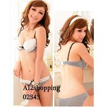 Underclothes Undergarment Sweet Bra ladies striped suit 02343-80B